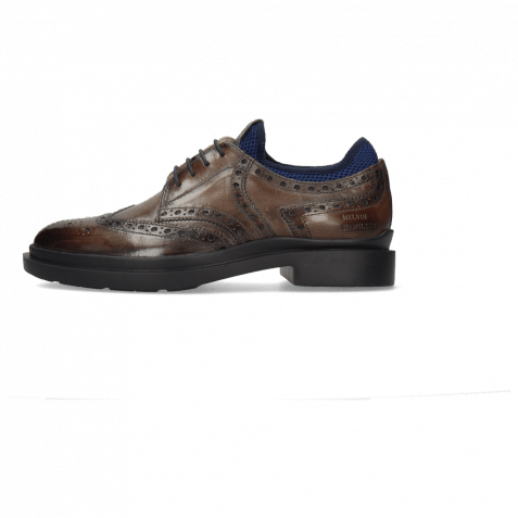 Derby Schuhe Ron 2 Stone Net Lycra Navy Patch