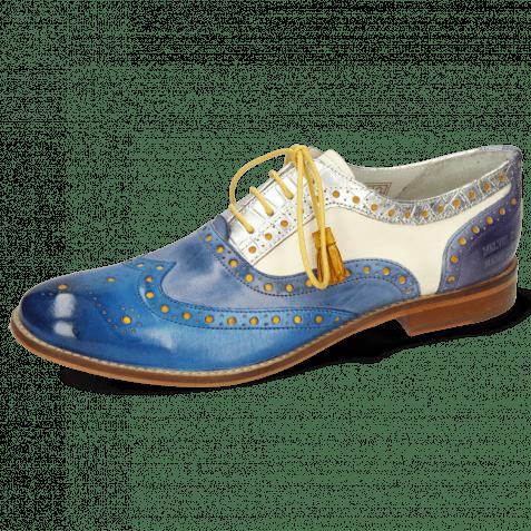 Oxford Schuhe Amelie 70 Vegas Mid Blue Wind Timor Silver