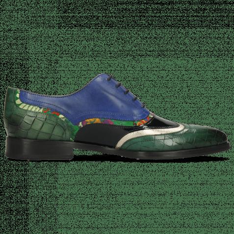Oxford Schuhe Jessy 13 Crock Pine Nappa Aztek Gold Soft Patent Oriental Saphir Korela Green