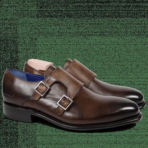 Monk Schuhe Charles 9 Crust Dark Brown LS