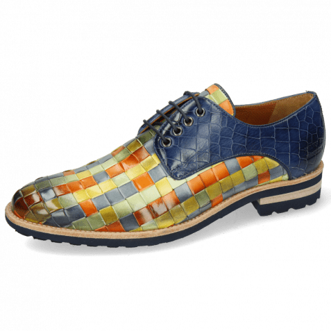 Derby Schuhe Brad 7 Woven Vegas Multi Crock Marine