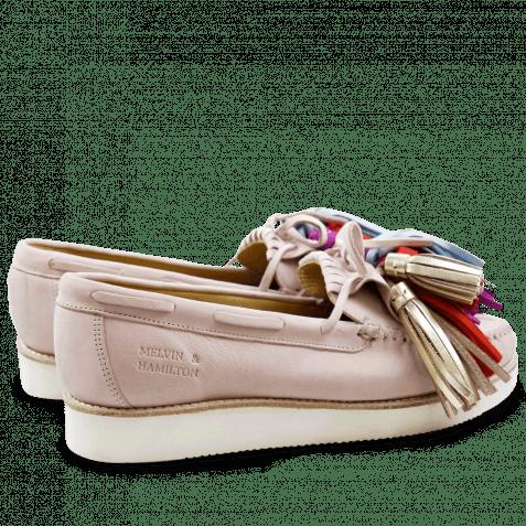 Loafers Bea 4 Elko Rose Tassel Multi XL Malden White