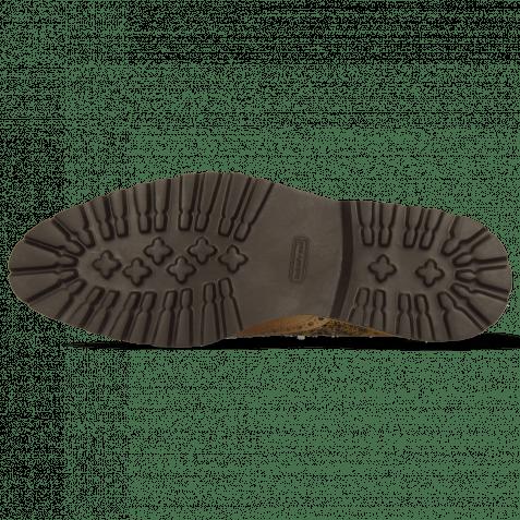 Derby Schuhe Henry 7 Croco Brown Tan Dice Sand Textile Cedro