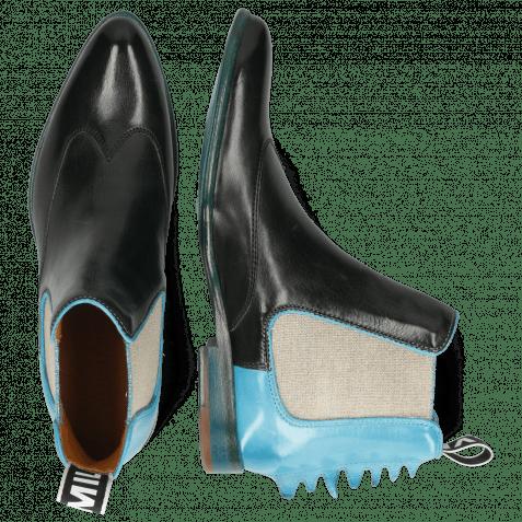 Stiefeletten Keira 7 Vegas Black Turquoise Loop