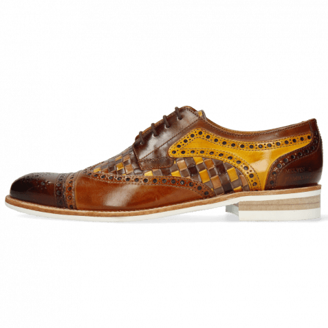 Derby Schuhe Henry 7 Wood Sabbia Tan Woven