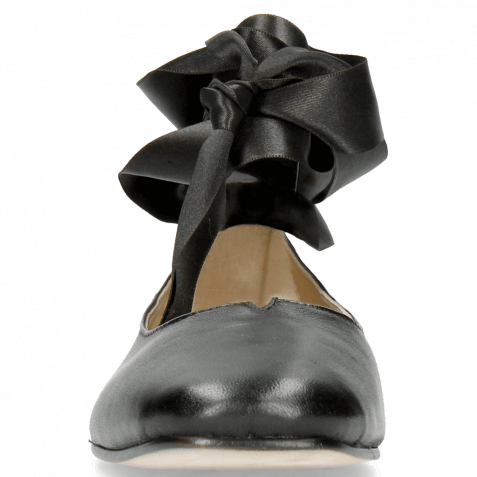 Ballerinas Melly 4 Nappa Black Ribbon