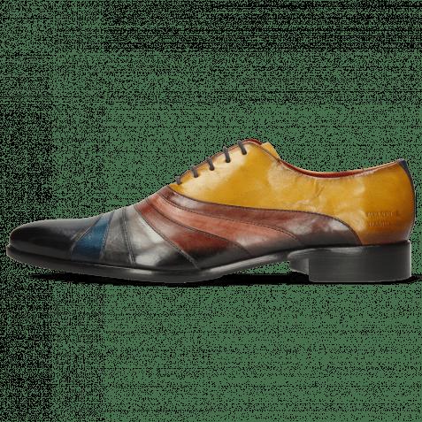 Oxford Schuhe Toni 43 Multicolore Indy Yellow