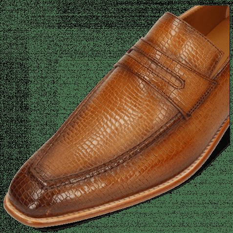 Loafers Leonardo 4 Skink Washed Tan Shade Dark Brown