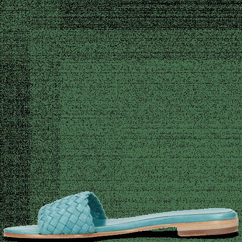 Pantoletten Hanna 26 Woven Turquoise
