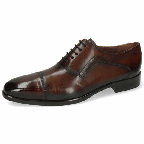 Oxford Schuhe Lance 15 Mid Brown Shade Electric Blue