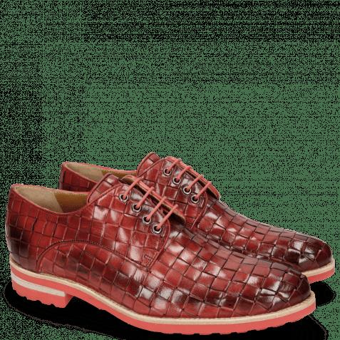 Derby Schuhe Brad 7 Woven Ruby Lining Rich Tan