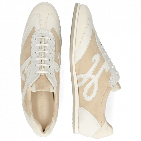 Sneakers Pearl 4 Chrome Free Suede Cream Nappa White Nude