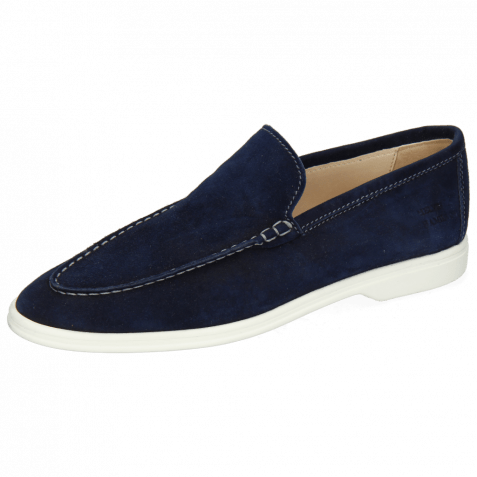 Loafers Adley 1 Suede Navy Stiching