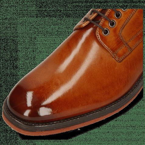 Derby Schuhe Eddy 54 Tan Strap Beige Lining