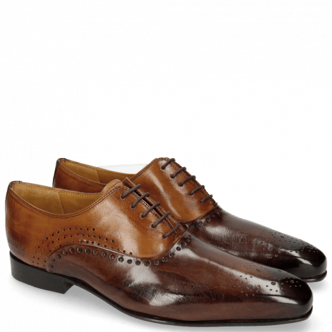 Oxford Schuhe Lewis 41 Mogano Tan LS Thin Brown