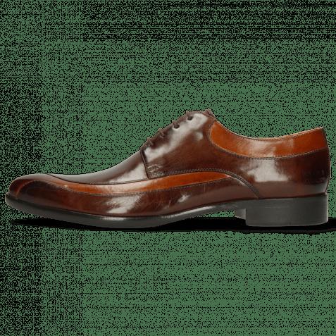 Derby Schuhe Toni 36 Cognac Mid Brown