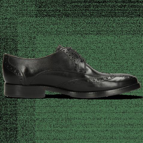 Derby Schuhe Amelie 3 Pisa Black Lining Nappa