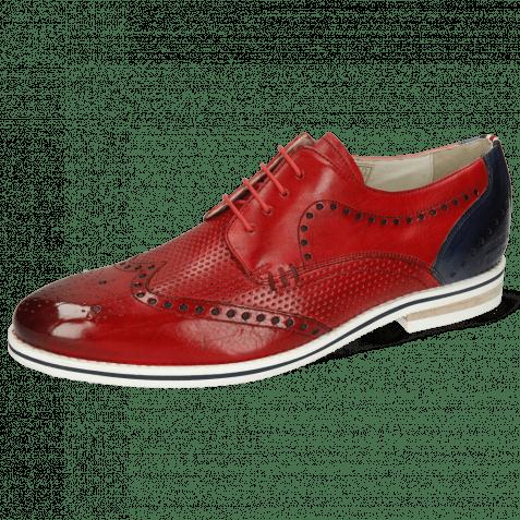 Derby Schuhe Scott 2 Vegas Perfo Ruby Vegas Navy Strap