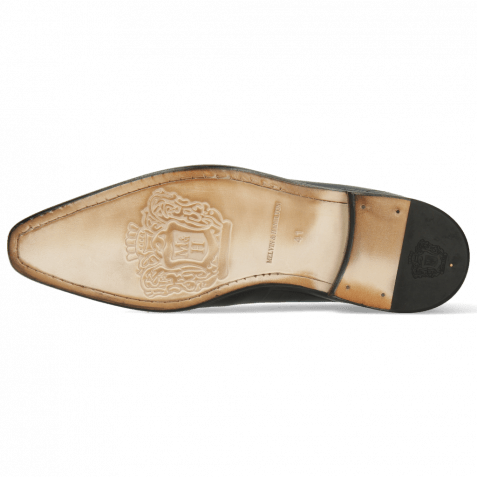 Oxford Schuhe Lance 61 Spector Big Croco Patina Black Bluette