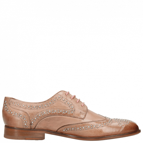Derby Schuhe Sally 53 Berlin Rivets Soft Natural
