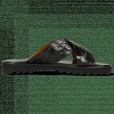 Pantoletten Sam 37 Classic Interlaced Black Lining