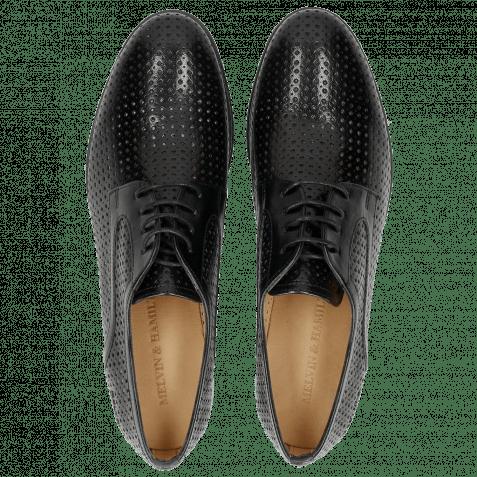 Derby Schuhe Sally 17 Venice Perfo Diamont Black