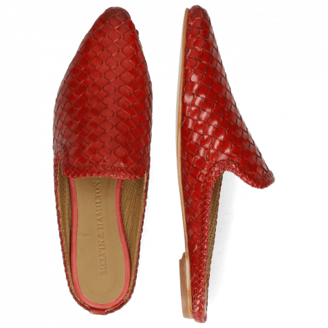 Pantoletten Lydia 2 Woven Scale Ruby Lining