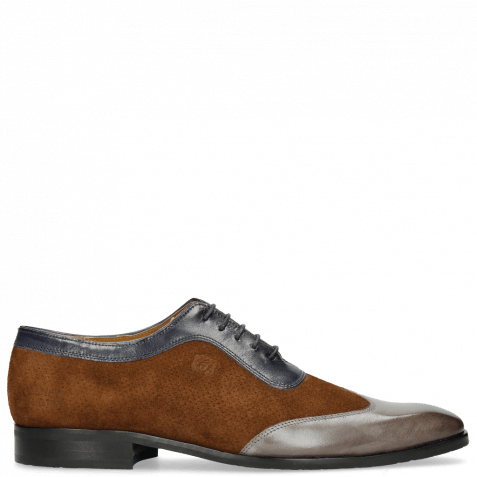 Oxford Schuhe Rico 8 Rio Stone Ciliago Suede Touch Perfo Navy