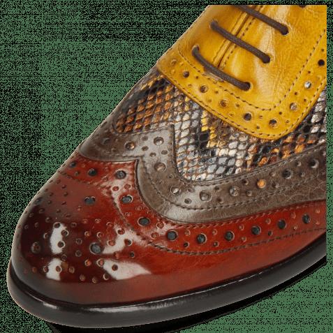 Oxford Schuhe Selina 56 Imola Rust Stone Dafne Spritz Indy Yellow