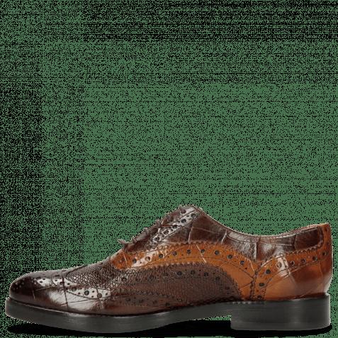 Oxford Schuhe Amelie 10 Turtle Mid Brown Python