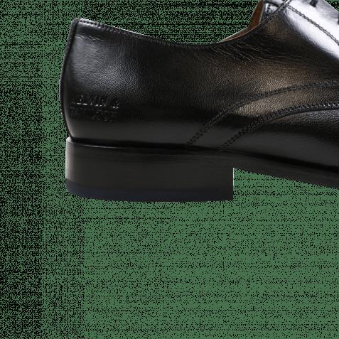 Derby Schuhe Xander 1 Venice Black HRS Navy