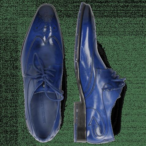 Derby Schuhe Elvis 63 Electric Blue Lining