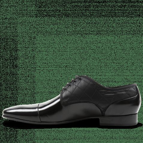 Derby Schuhe Flemming 1 Brush Black Funky Black LS