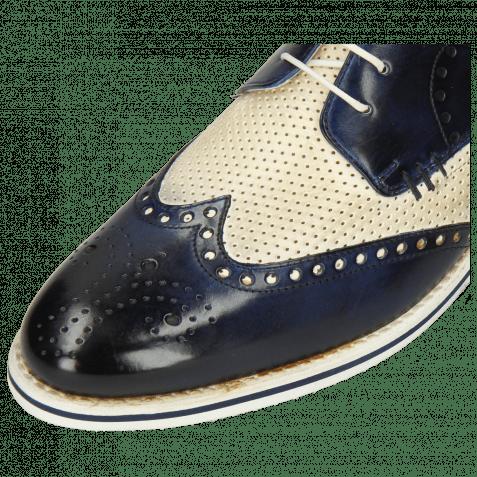Derby Schuhe Scott 2 Nude Vegas Perfo Navy
