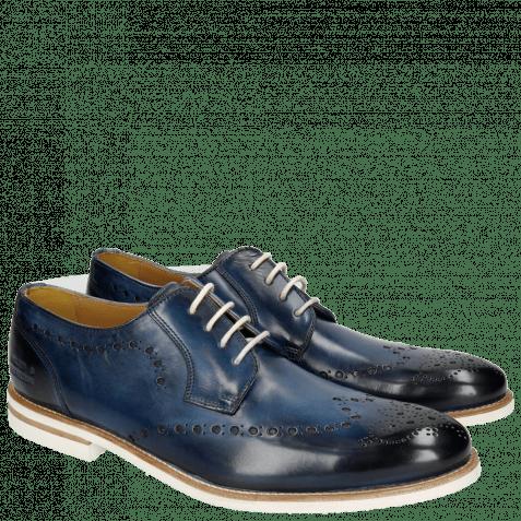 Derby Schuhe Scott 7 Washed Navy