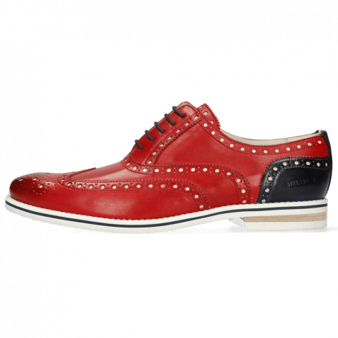 Oxford Schuhe Scott 12 Vegas Ruby Underlay White