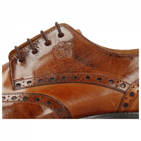 Derby Schuhe Martin 15 Berlin Mogano Tan