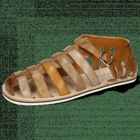 Sandalen Sam 3 Imola Dark Chocolate Ash Tortora Camel Chestnut