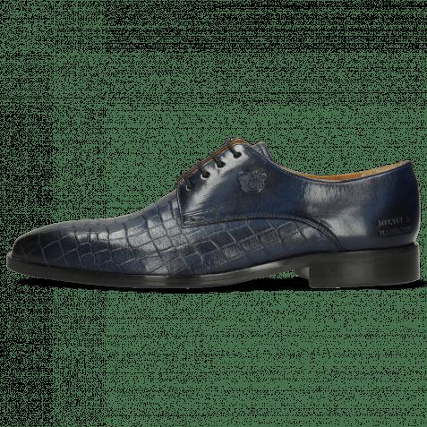 Derby Schuhe Greg 4 Venice Crock Navy Textile