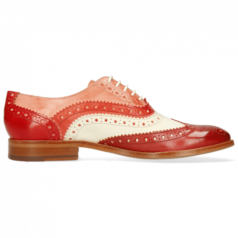 Oxford Schuhe Amelie 10 Vegas Rubino White Fiesta Earthly Rio Red