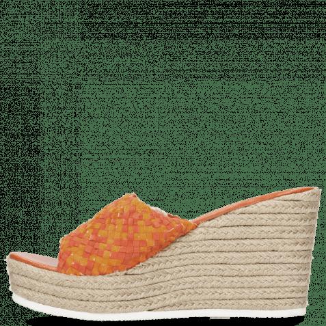 Pantoletten Abby 1 Woven Satin Orange