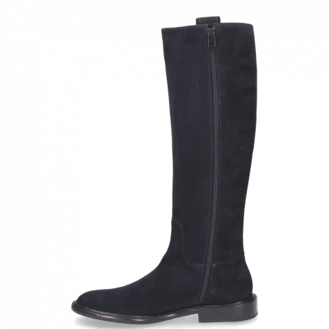 Stiefel Sally 63 Suede Navy Embrodery New HRS Thick