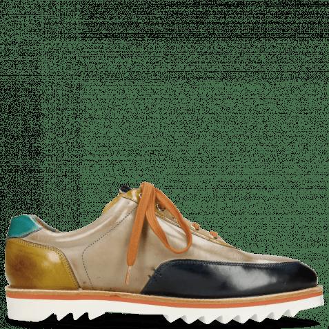 Sneakers Niven 10 Mid Blue Digital Olivine Mermaid Laces Brown