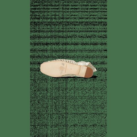 Sandalen Melly 8 Mignon Platin Nappa Talca
