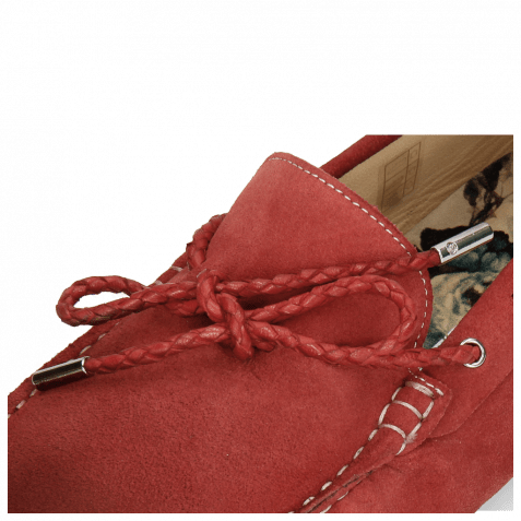 Loafers Nelson 3 Suede Pattini Red Shade Burgundy