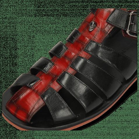 Sandalen Sam 30 Turtle Red Shade Black