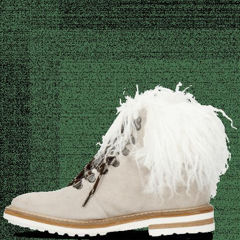 Stiefeletten Amelie 79  Suede Pattini Jute Collar Fur Mongolian