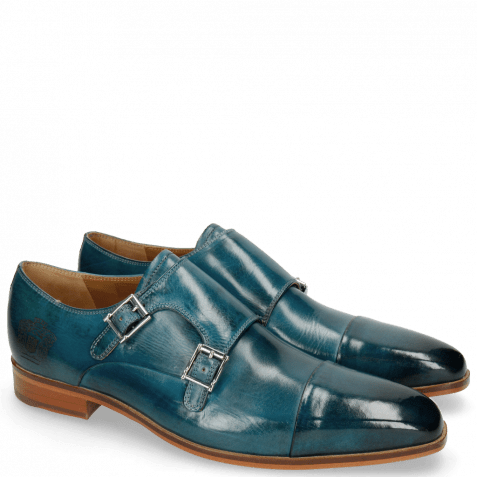 Monk Schuhe Lance 1 Bluette Lasercut Crown