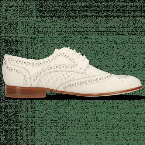 Derby Schuhe Sandy 2 Nappa Ivory Perfo