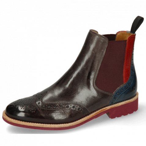Stiefeletten Selina 6 Mulberry Ice Lake Elastic Burgundy